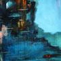 Menorca - Wasser und Himmerl, 2004 (im Besitz von Carl Bernstein) | Öl-Acryl auf Leinwand | 120 x 100 cm