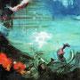 In der Tiefe 1, 2005 | Öl-Acryl auf Leinwand | 180 x 160 cm
