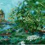 Englischer Garten - Monopterus, 2009 | Öl-Acryl | 110 x 130 cm