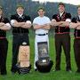 Emmentalerkranzgewinner vl. Beat Salzmann, Christian Gerber, Damian Gehrig, Adrian Gäggeler, Mathias Wiedmer