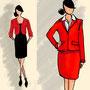 Kostümskizzen / digital / Hostess Service Dress für Sparkasse Gala