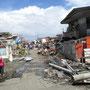 die Zerstörung direkt in Tanauan
