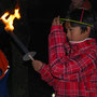 Die Jugendfeuerwehr begleitete den kleinen Umzug.