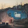 Vorhandene Feuer nutzen (Rast der Offiziere), 2014/2015, Acrylic, Collage on canvas