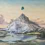 Mount St. Discordia (Paramountain), 2014, Acrylic/collage on canvas, 130cm x 160cm