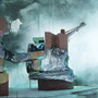 Tiefdruckgebiet, 2006, Acrylic/collage on canvas, 90cm x 70cm