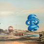 Primärquadrant, 2012, Acrylic/collage on canvas, 160cm x 130cm