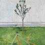 Baum Nr.5, 2017, Acrylic on canvas, 90cm x 50cm