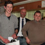 Sportfahrerehrung: Freddy Killensberger mit Peter Altrichter (1. Vorstand) und Johann Obrock (Sportleiter)