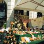Il bellissimo espositore ANDOS -  Festa della Mela 2003 -Tolmezzo