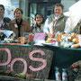 La postazione dell'ANDOS alla Festa della Mela 2003 -Tolmezzo
