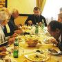 Frühstück und Diskussion mit Bischof Bohdan