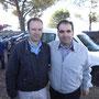 El Hermano Mayor con Roque Carrasco, en representación de la Cofradía del Encuentro