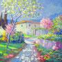 Primavera Fiorita - Olio su tela cm 50x40