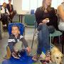 Loan, Karine et le chien Ghost