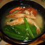 2012年のお雑煮。釣った伊勢エビ(上)入り
