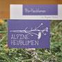 Alpine Heublumen Info-Folder