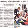 Herzform + Tine Stand in der lokalen Presse