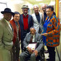 with Bob Cunningham in the middle at Jazz966 (April 17, 2015)
