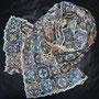 Fertig gehäkelter Schal