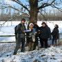 Botanik AG im Schnee Foto: E. Heckmann