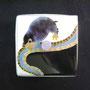 Euroscaptormizura{ミズラモグラ] 50×50×70mm 七宝釉 銅 銀線 硝子