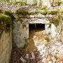 Zugeschütteter Eingang des Bunkers