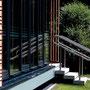 Schlichtes Außen-Geländer aus gebürstetem Edelstahl, Architekten > Thomas Becker, Ennigerloh