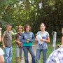 Führung von drei Teilnehmern am letzten Workshop-Tag