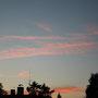 Sonnenuntergang am Haus / Západ slunce u chalupy