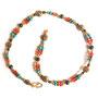 Pharaonischer Schmuck 8. Schneckenkette mit Lapislazuli, Türkis und Karneol