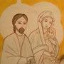 """""""Die Heilige Familie in Ägypten"""", Malerei von Daniela Rutica im koptischen Kloster Brenkhausen"""