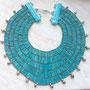 Pharaonischer Schmuck 5. Großer Halskragen mit blauen Tonperlen (Fayence-Halskragenendstücke: Jutta Griebel Design)