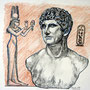 "Daniela Rutica, ""Antonius und Kleopatra"", Farbstifte/Papier, 2008"