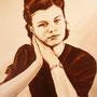 """Daniela Rutica:""""Traudel"""", 30 x 40 cm, Acryl/Lw, 2009"""