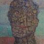 Philosoph. Öl auf Leinen, 140x110 cm.