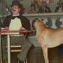 1982 Herr Strudl mit Dackel Willi
