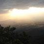 """Panorámica desde la montaña """"Quetzaltepec""""."""