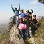 El grupo explorando la ruta. (Israel, Manuel, Daniel, Marcelo, Agustin y nuestro hermano Leo de Calpulalpan.