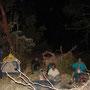 Noche de campamento.