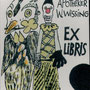 Natus - Salamoun, Eva- Halle. Lithographie, 2008. Auflage 50. Blatt 100 x 80 mm. Das vierblättrige Glückskleeblatt wider Gevatter Tod.    001
