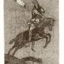 Schmiedel, Robert. Leipzig, Radierung 2012. Blatt 190 x 140 mm. Platte. 125 x 85 mm. Vierter Apokalyptischer Raiter