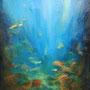 Lumière océanique -Acrylique et mixtes-18x24 pouces-VENDUE