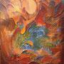 Sirène - Acrylique et mixtes - 16x20 pouces-Disponible