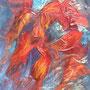 L'oiseau de feu - Acrylique - 12x16 pouces-VENDUE
