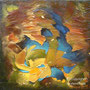 Cenote - Acrylique et mixtes - 14x14 pouces-VENDUE