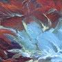 Fleur de perle - Acrulique et mixtes - 12x16 pouces-VENDUE