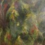 Du fond de la forêt - Acrylique et mixtes sur toile -Format 14x14 pouces -VENDUE