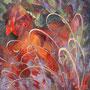 Danse autochtone - Acrylique et mixtes - 30x36 pouces-VENDUE