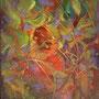 Présence discrète - Acrylique et mixtes - 24x30-VENDUE